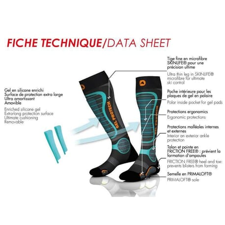 Pack Chaussettes + Protections GelProtech Ski Monnet