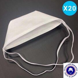 Masque filtrant lavable UNS2 - LOT DE 20