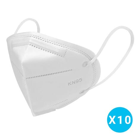 Masque Protection KN 95 (équivalent FFP2) - Lot de 10