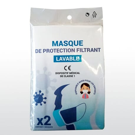 Masque Protection Antivirus Lavable Adulte