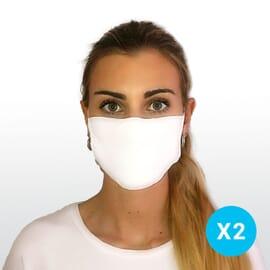 Masque Tissu Lavable Adulte - Lot de 2