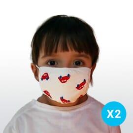 Masque Tissu Lavable Enfant 6 -12ans - Lot de 2