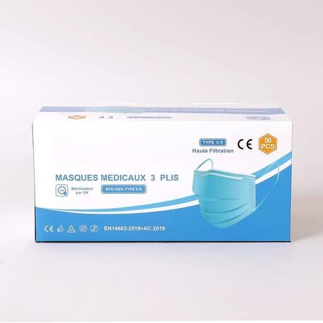 Masque Chirurgical Type IIR - Lot de 50